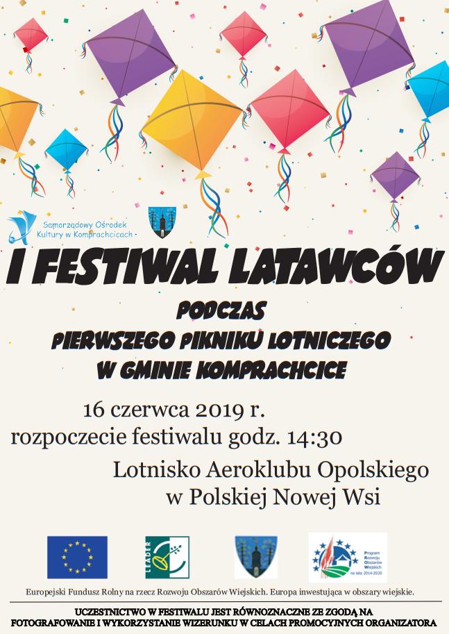 I Festiwal Latawców - plakat.png
