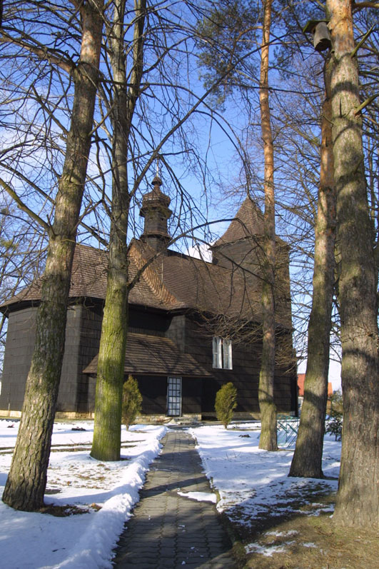 Drewniany kościół p.w. Św. Marcina w Ochodzach
